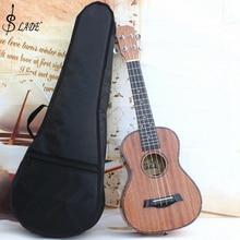 SLADE 23 дюймов черный портативный укулеле сумка Мягкий чехол Gig хлопок водонепроницаемая сумка рюкзак на одно плечо мягкий музыкальный инструмент