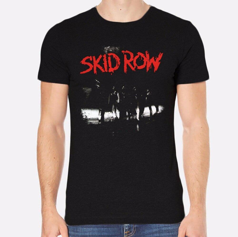 T Shirt Printing Company Short Sleeve Graphic O Neck Skid Row Rock