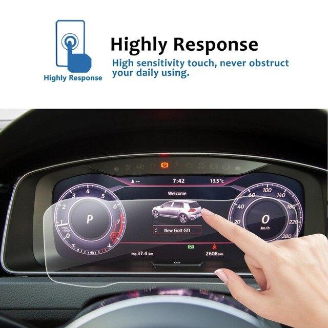 RUIYA Car Screen Protector For Golf 7 12.3 Inch 2018 Digital Cockpit  LCD Dashboard Display Screen Auto Interior Accessories