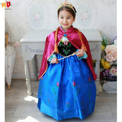AD Princess Anna's Dress Girls Costume Clothing Children's Frozen Clothing