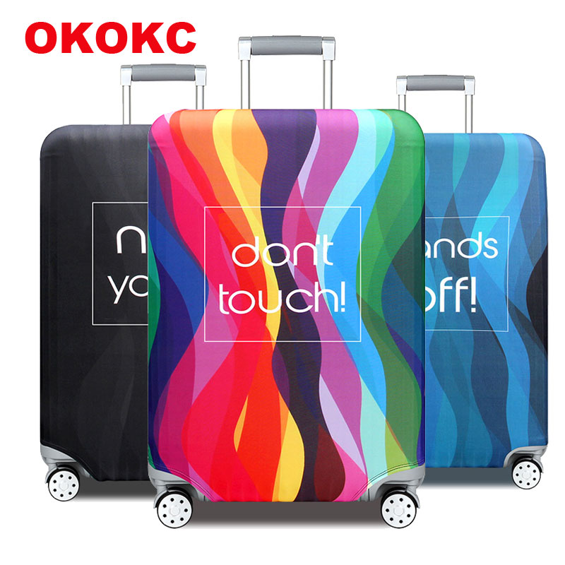 OKOKC Travel Accessories Luggage Cover Suitcase Protection Baggage Dust Cover Stretch Fabrics Trunk Set Cases