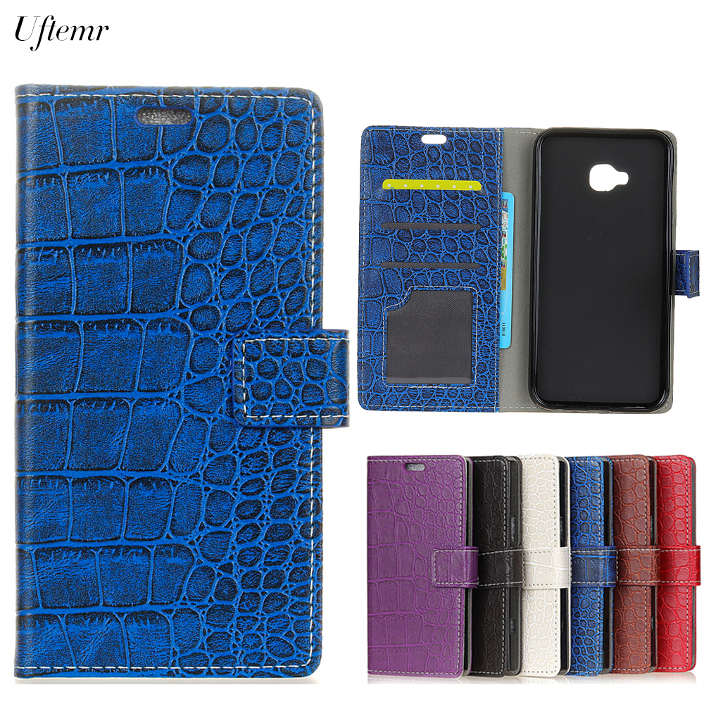 Uftemr Vintage Crocodile PU Leather Cover For BQ U2 Protective Silicone Case for BQ U2 Lite Wallet Card Slot Phone Acessories