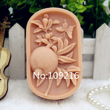 New Product!!1pcs Pomegranate (zx185) Food Grade Silicone Handmade Soap Mold Crafts DIY Mould