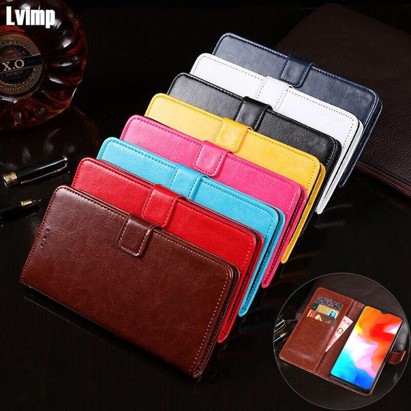 OnePlus 6 t 6 Six Cas De Luxe Flip PU Housse En Cuir pour Un Plus 6 1 + 6 Un plus 6 t 1 + 6 t A6013 De Protection Téléphone Sacs Couverture