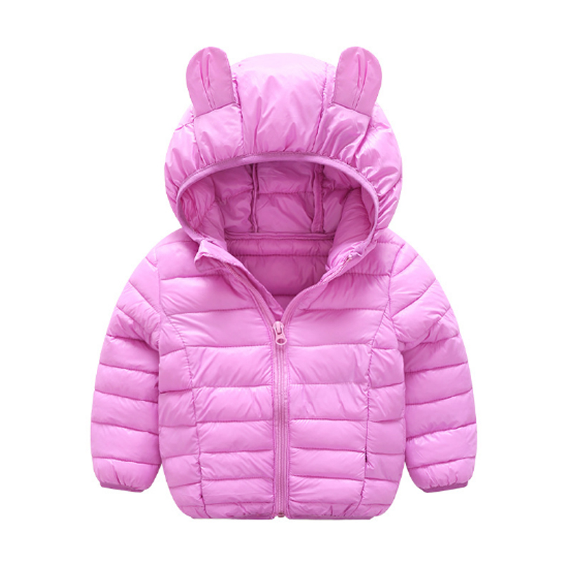 Girls Clothing Down & Parkas 2017 New Cotton Winter Solid Cotton Cute Hooded Kids Boys Jacket Children Outwear Coats Tops 3dp011 jackets for girls winter cotton down jacket for girl down parkas with fur hooded polka dot outwear coats children s clothing hot