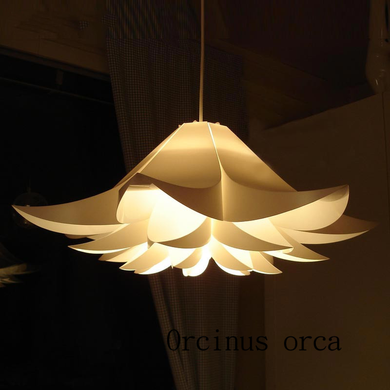 Nordic Modern Single Head Lilies Chandelier Restaurant Bedroom Creative Personality White Flower Chandelier Free Shipping