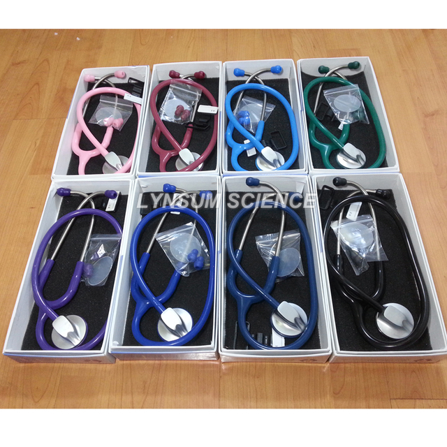 1 PCS Single Head Professional Cardiology Medical Cute Stethoscope with Name Tag 1