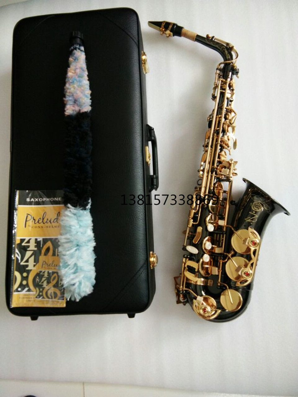 2017 New E Alto Saxophone Selmer 54 Black nickel gold key Lacquer Professional Saxophone Saxophone High Eb Tone with nozzle france selmer 54 e flat alto saxophone instruments matt black nickel and gold professional performance