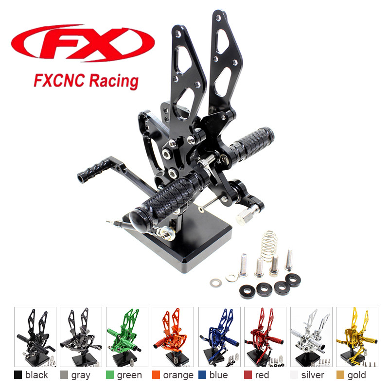 FX CNC Aluminum Adjustable Motorcycle Rearsets Rear Set Foot Pegs Pedal Footrest For KAWASAKI Z1000 ABS 2011 - 2016 2015 2014 13 free shipping motorcycle parts silver cnc rearsets foot pegs rear set for yamaha yzf r6 2006 2010 2007 2008 motorcycle foot pegs