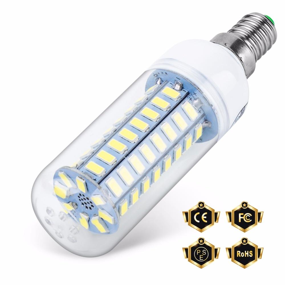 LED Lamp E14 Corn Bulb Light E27 Bombillas Led Candle Lights SMD 5730 Desk Lamp Home Decoration Chandelier 24 36 48 56 69 72leds
