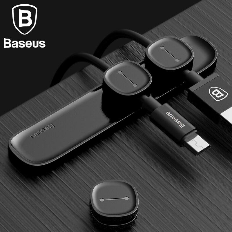 BASEUS Магнитная кабельный зажим для мобильного телефона <font><b>USB</b></font> кабель для передачи данных органайзер для <font><b>USB</b></font> Зарядное устройство кабель магнитный &#8230;
