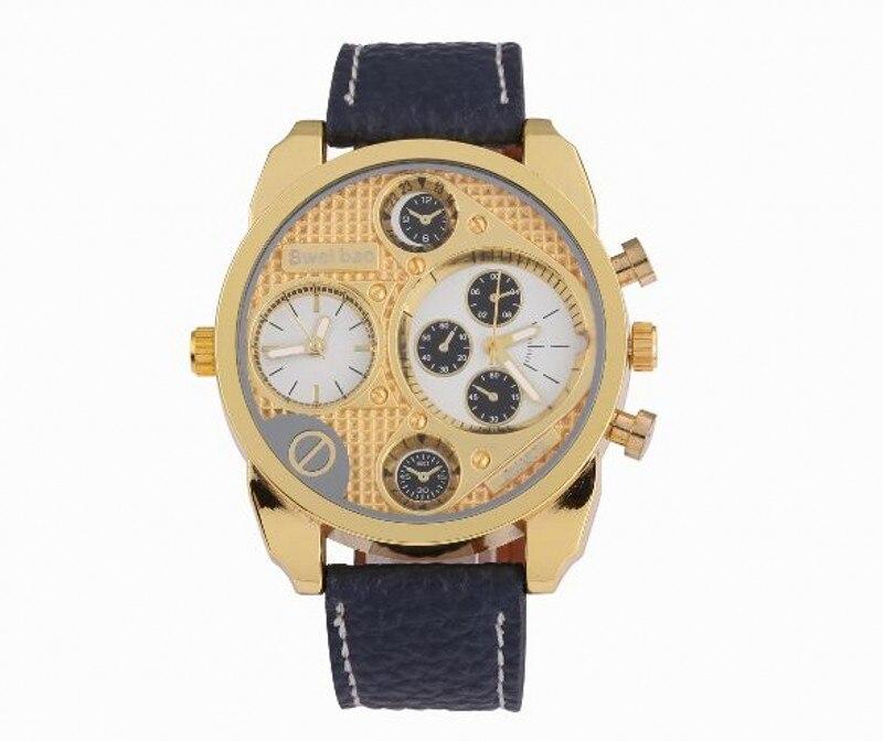 Shiweibao Mens Watches Top Brand Waterproof Leather Watches Quartz-Watch Men Male Watch 485
