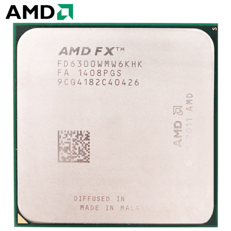 AMD FX-Series FX 6300 CPU Processor Socket AM3+ 95W 3.5GHz 8MB 940-pin Six-Core Desktop Processor CPU Amd Socket Am3+