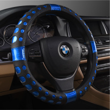 KKYSYELVA  2017 new car leather steering wheel cover four-color bright, suitable for 38CM car steering wheel cover