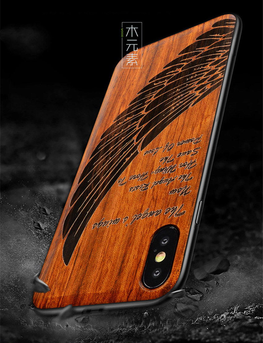 2018 New For iPhone XS Max Case Slim Wood Back Cover TPU Bumper Case For iPhone X iPhone XS Phone Cases (8)