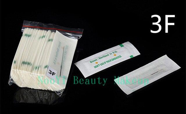 Free Shipping Permanent Makeup Machine Needles 100pcs 3F High Quality Standard Needles For Tattoo Makeup Pen