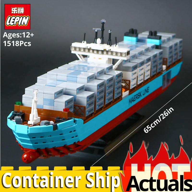 Lepin Technic Series 22002 The Maersk Cargo Container Ship Moded Set Creator 10241 Building Blocks Bricks Child Educational Toys цена