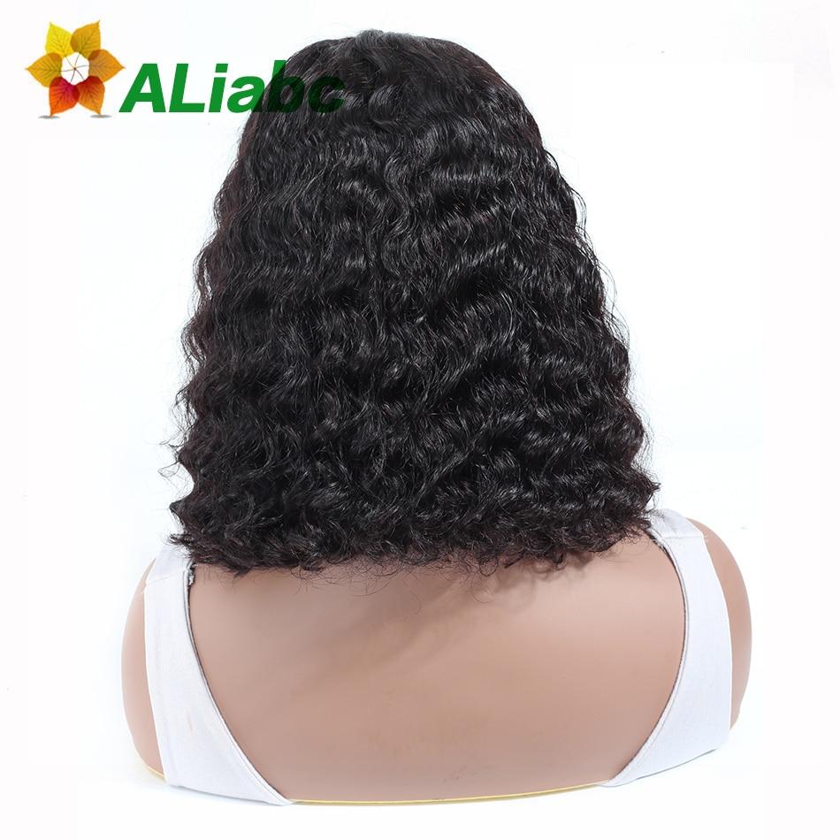 Aliabc 13 4 Bob Wigs Brazilian Lace Front Human Hair Wigs For Black Women Natural Color