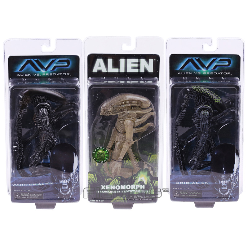 NECA Alien vs. Predator Xenomorph / Warrior Alien / Grid Alien PVC Action Figure Collectible Model Toy saintgi alien covenant alien vs predator alien pvc 19cm animated action figure collection model dolls kids toys