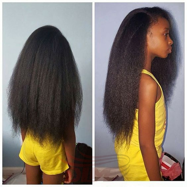 7a Remy Virgin Peruvian Afro Kinky Straight Human Braiding Hair Bulk