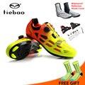 Tiebao Männer Frauen Radfahren Schuhe Rennrad Fahrrad Schuhe Selbst lock Atmungsaktive Reiten Bike Schuhe Turnschuhe Sportschuhe-in Fahrradschuhe aus Sport und Unterhaltung bei