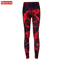 Hipsterme Drop ship S-4XL Women spider-man Leggings MIlk Leggings Galaxy leggings Plus Size girl Leggings