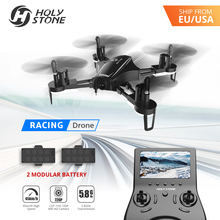 Holy Stone HS230 Racing FPV 5.8G Wifi Drone with 2MP 720P HD 120 Wide Angle Camera with LCD Screen 45Km/h High Speed Quadcopter