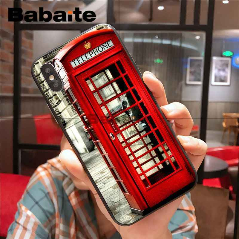 Babaite london bus england telephone Luxury Unique Design Phone Cover for iphone 8 7 6 6S Plus 5 5S SE XR X XS MAX Coque Shell