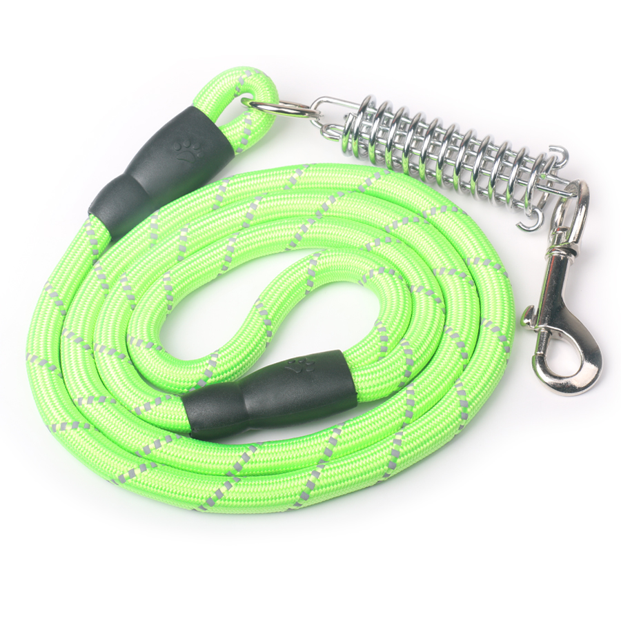 Nylon Dog Leash Reflective Pet-resistant Heavy Duty Traction Rope 1.5 m Round P Chain High Quality Dog Training Collar