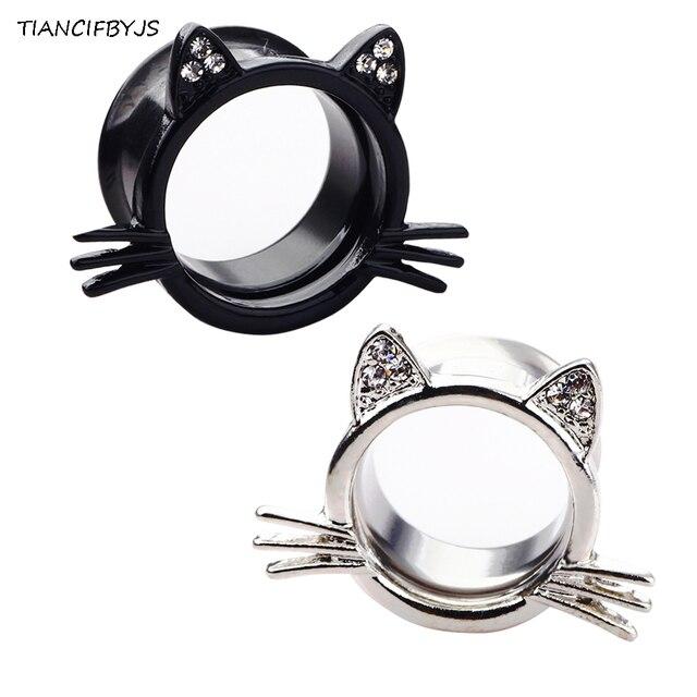Tiancifbyjs 2pcs Flare Ear Flesh Tunnel Piercing Plug Tunnels Earring Gauges 00g 2018 Fashion Bodyjewelry
