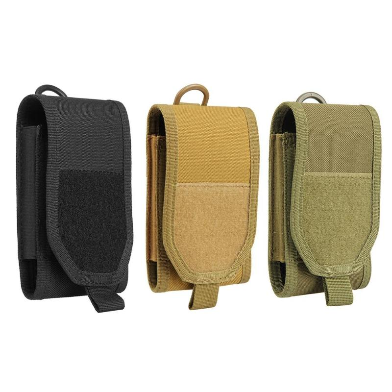 Military Tactical Outdoor Waist Bag Molle Phone Bag Waist Belt Pouch for 5.5in Mobile Phones Multifunctional EDC Molle Pouch Bag cqc tactical molle system medical pouch utility edc tool molle pouch waist pack phone pouch hunting 1000d molle bag