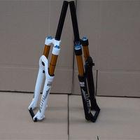 Mountain Bike Disc Fork 26 MTB Road Aluminium Alloy+Magnesium Alloy Bike Suspension Fork Boots Downhill Black White