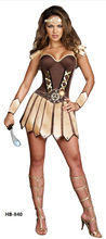 free shipping Halloween Masquerade Female Pirate Cosplay Costumes Sexy Greece Woman Warrior Stage Performance costume