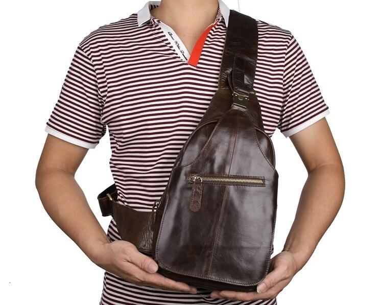J.M.D nouveau sac de poitrine de grande capacité de Style classique en cuir Excellent pour hommes sac de messager de qualité supérieure sac bandoulière Vintage 2467C