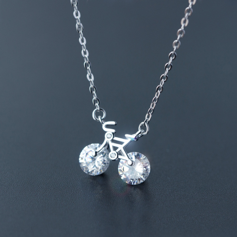925 sterling silver bicycle necklace pendant free