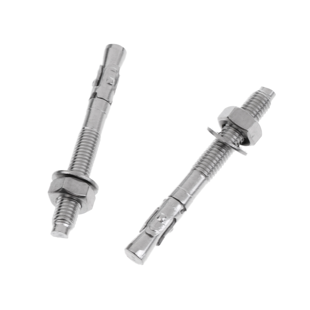 2 Piece M10 x 90mm Stainless Steel Expansion Bolt Anchor Screw Nut Piton for Climbing Equipment in Climbing Accessories from Sports Entertainment