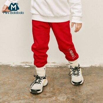Mini balabalaChildren clothing pants boys 2019 spring autumn models boys baby casual pants fashion 3