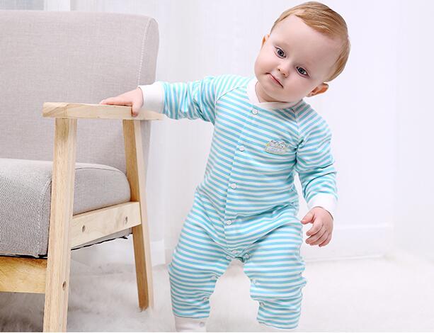 e0e13aaab Ropa de recién nacido de manga larga romper para 3 6 meses bebé moda traje  primavera y otoño 100% algodón mameluco en Monos de Mamá y bebé en  AliExpress.com ...