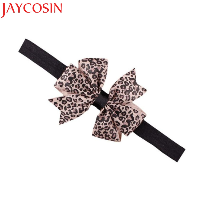 JAYCOSIN New Fashion Lovely Sweet Children's Elastic Force Hair Band Princess Baby Girl Round Dot Bowknot Leopard Hairband delicate hot 2016 fashion baby new lovely baby kids girls mini bowknot hairband elastic headband ju15