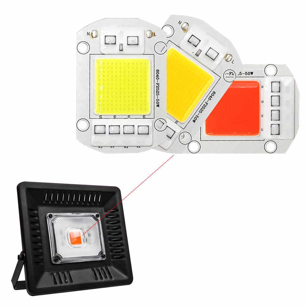 20 W 30 W 50 W 100 W 150 W LED Chip COB lámpara AC 110 V 220 V inteligente bombilla LED de espectro completo sin conducción IC para luces de cultivo de plantas de reflector