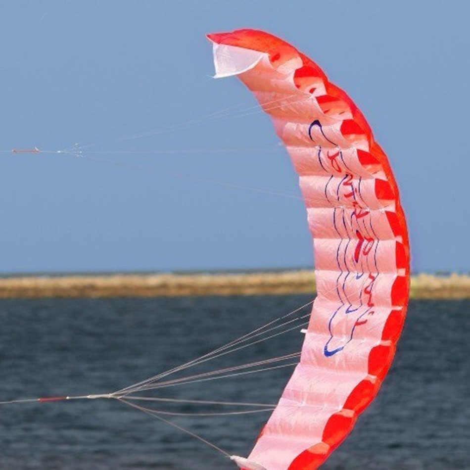 140 cm Vliegers Dual Line Parafoil Stunt Kite Gevlochten Zeilen Surf Rainbow Kite Outdoor Sport Speelgoed Vliegeren gereedschappen