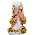 2016 nueva Primavera Otoño Ropa de Bebé De Franela Ropa Del Bebé Tigre de la Historieta Del Mono Del Bebé de Los Mamelucos Del Bebé Ropa 1526263124