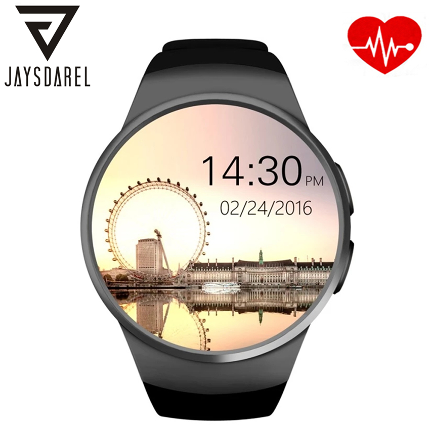 JAYSDAREL KW18 Heart Rate Monitor Smart Watch Full Screen Support SIM TF Card Bluetooth Smart Wristwatch for Android iOS bluetooth smart watch heart rate monitor sleep monitoring smart bracelet support sim tf sd card for ios android multi languages