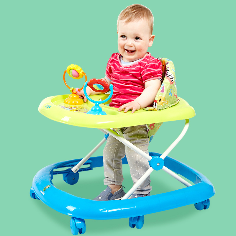 Best Sell 7-18 months Baby Car Anti Rollover Multifunctional Baby Walker With Toys Plate Safety Folding Easy Baby Walker Car baby car rollover multifunctional music 6 7 18 months baby children learn driving
