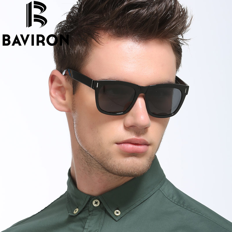 c26bf4b0581 แว่นตากันแดดเลนส์โพลีคาร์บอเนต BAVIRON Retro Sunglasses Unisex TR90 Havana  Frame Sunglasses Slightly Vintage Men Driving Glasses Polarized Sunwear  Popular ...