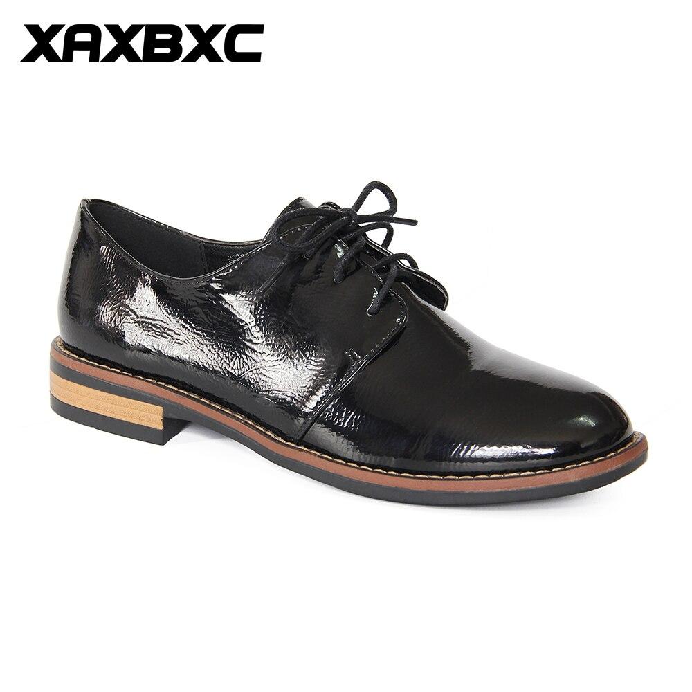 Mujer Femelle Noir Xaxbxc k283 Lacent Oxfords H036 Occasionnel Talons Cuir Femmes Bas Automne Richelieu En Printemps Pompes 2018 Chaussures Black Nouveaux ZqSfZaw