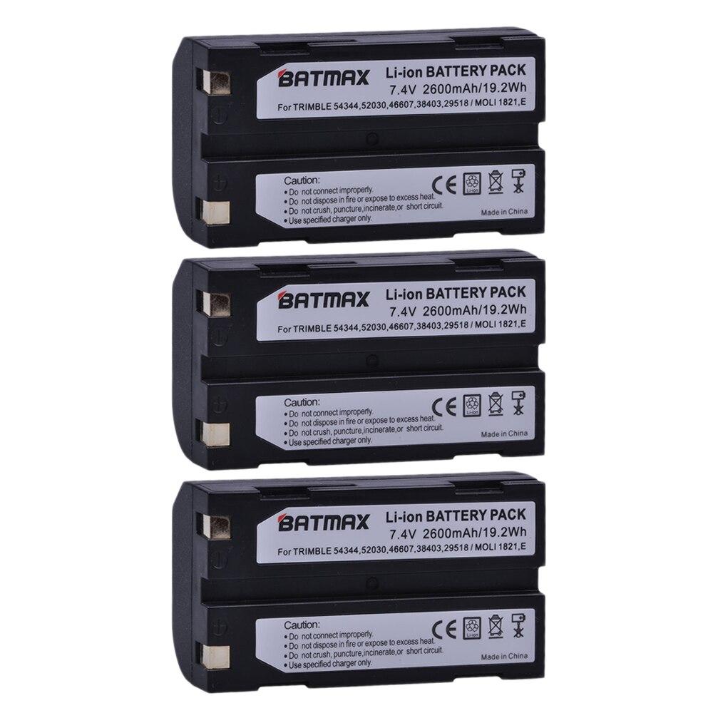 3Pcs 7.4V 2600mAh Battery akku 54344 for Trimble 5700 5800,MT1000,R7,R8 GPS Receiver3Pcs 7.4V 2600mAh Battery akku 54344 for Trimble 5700 5800,MT1000,R7,R8 GPS Receiver
