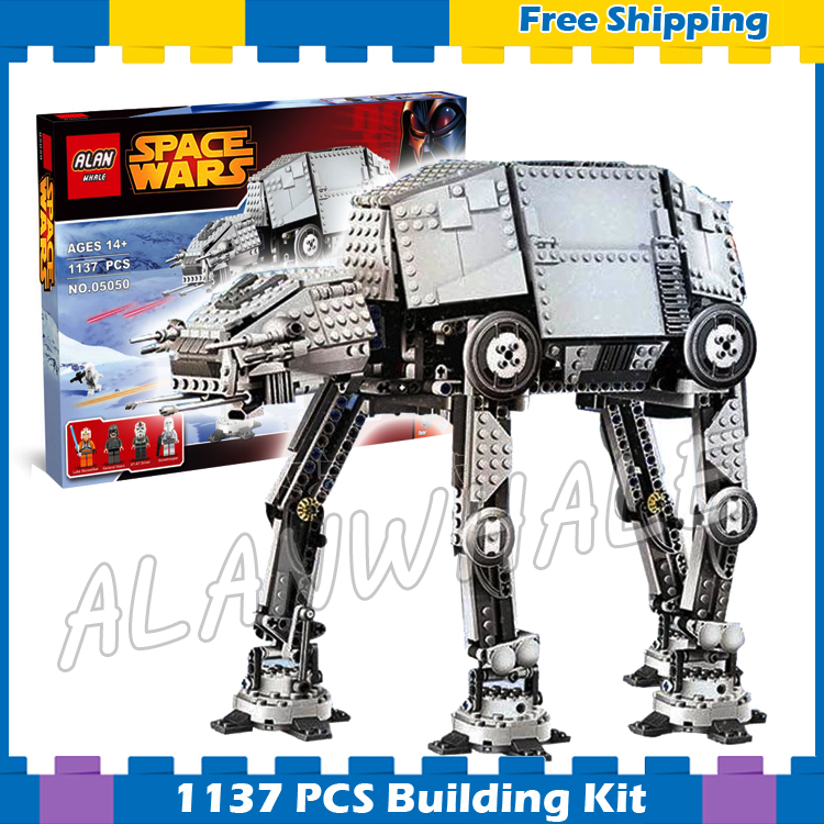 1137pcs Space Wars New Motorized Walking AT-AT Power Functions 05050 DIY Model Building Blocks Gifts Sets Compatible with Lego 11types techinic power functions motorized moc m l xl servo motor battery box model building blocks toy set compatible with lego