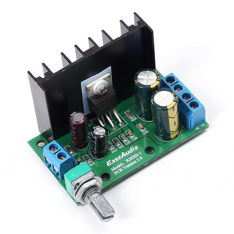 DC 12-24 V 10-30 W Amp Mono Audio Amplificateur Conseil Module Unique Alimentation Volume Réglable 60*35*40mm TDA2050