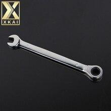 XKAI 8 мм ключ-Трещотка комбинированный ключ набор ключей трещотка Скейт инструмент зубчатое кольцо гаечный ключ трещотка ручка хром ванадий